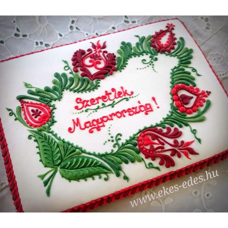 Szeretlek Magyarország mézeskalács plakett
