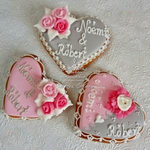 Pink rózsás esküvői köszönőajándék