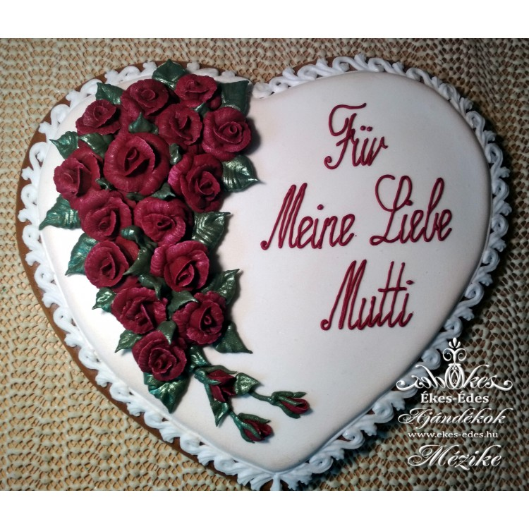 Bordó rózsás nagy szív